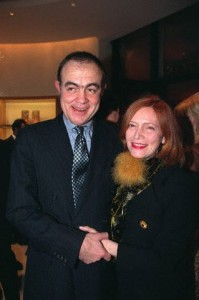 19 Feb 1998 --- Christian Lacroix and his wife Francoise. --- Image by © ROBERT ERIC/CORBIS SYGMA